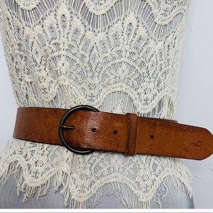 HOLLISTER hibiscus print leather belt